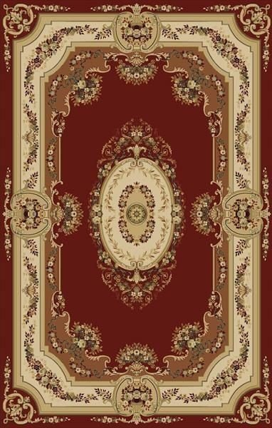 Červený moderní kusový koberec Melody - délka 140 cm a šířka 70 cm