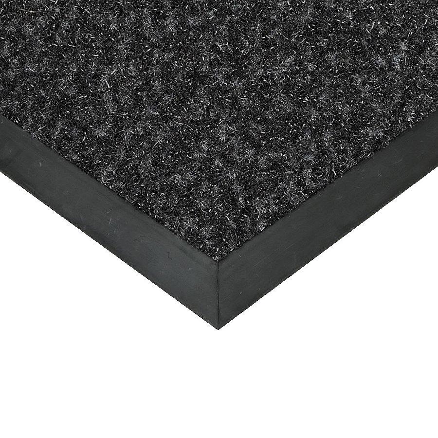 Černá textilní vstupní vnitřní čistící rohož Valeria, FLOMAT (Bfl-S1) - délka 50 cm, šířka 90 cm a výška 0,9 cm