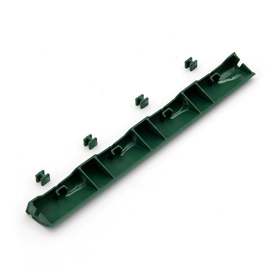 Zelený plastový nájezd pro terasovou dlažbu Linea Easy - délka 39 cm, šířka 4,5 cm a výška 2,5 cm