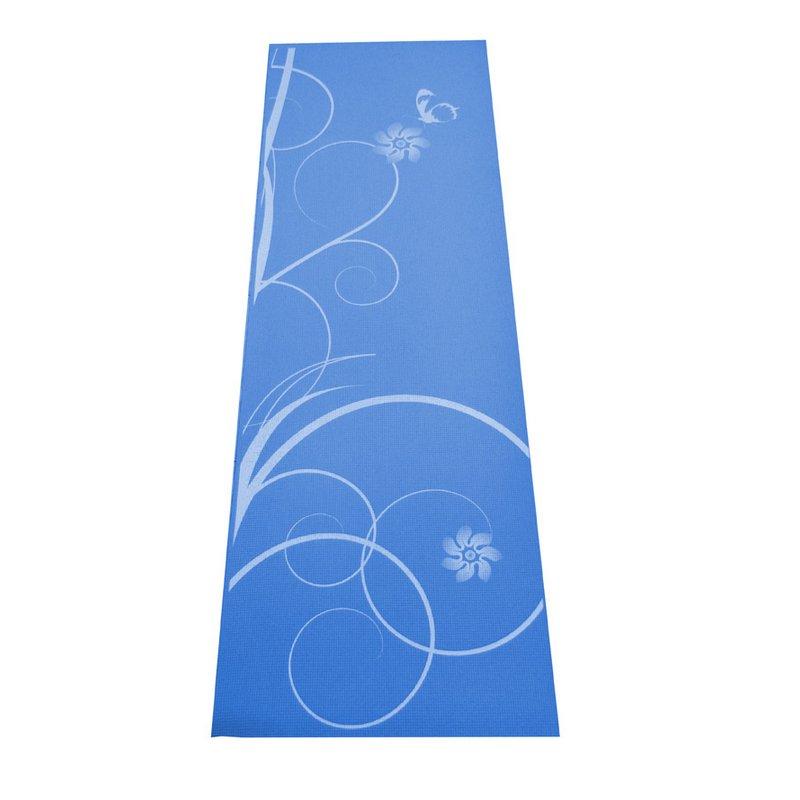 Modrá gymnastická podložka na cvičení - délka 170 cm, šířka 60 cm a výška 0,4 cm