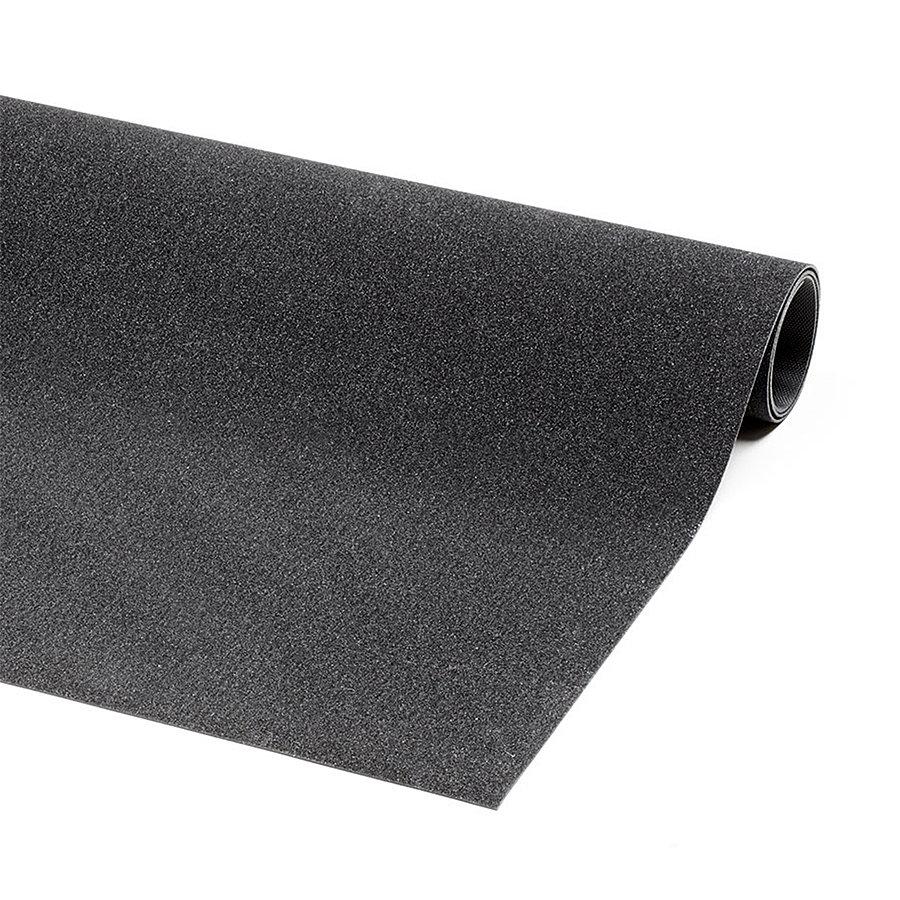 Černá průmyslová protiskluzová olejivzdorná rohož (metráž) Grit Trax - délka 1 cm, šířka 90 cm a výška 0,21 cm