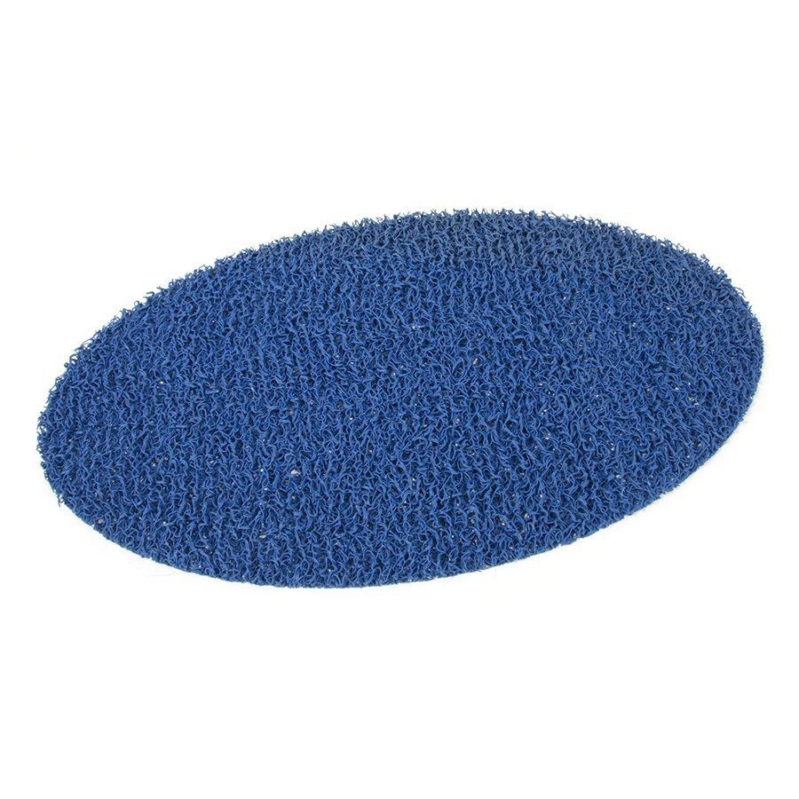 Modrá vinylová protiskluzová sprchová rohož FLOMA Spaghetti - šířka 120 cm a výška 1,2 cm