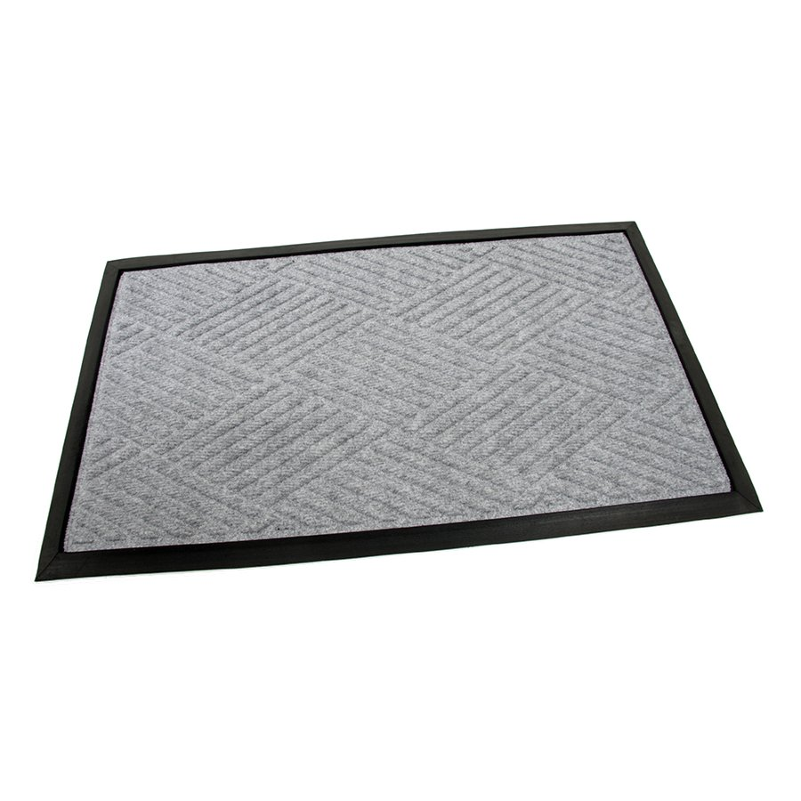 Šedá textilní gumová čistící vstupní rohož Crossing Lines, FLOMA - délka 45 cm, šířka 75 cm a výška 1 cm