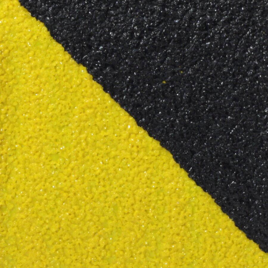 Černo-žlutá korundová protiskluzová páska pro nerovné povrchy FLOMA Hazard Conformable - délka 18,3 m, šířka 5 cm a tloušťka 1,1 mm