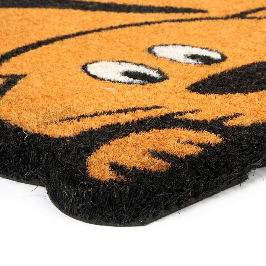 Kokosová vstupní venkovní čistící rohož Cute Cat, FLOMA - délka 45 cm, šířka 75 cm a výška 1,7 cm