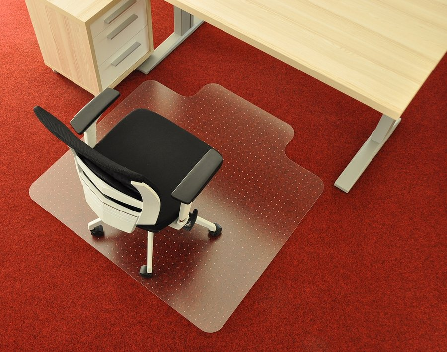 Čirá podložka pod židli na koberec 02 - délka 120 cm, šířka 120 cm a výška 0,3 cm
