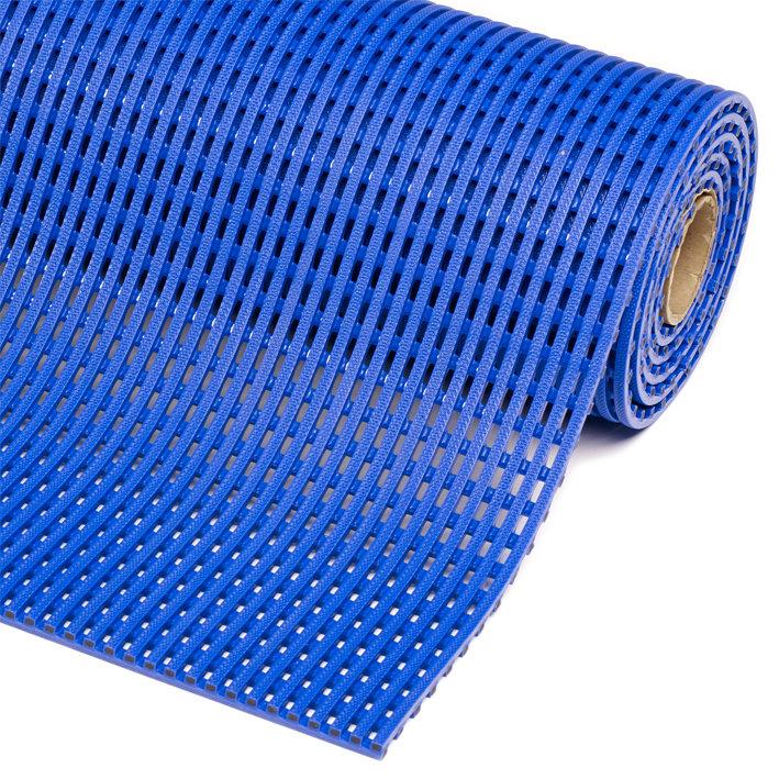Modrá metrážová bazénová protiskluzová rohož Akwadek - délka 1 cm a výška 1,2 cm