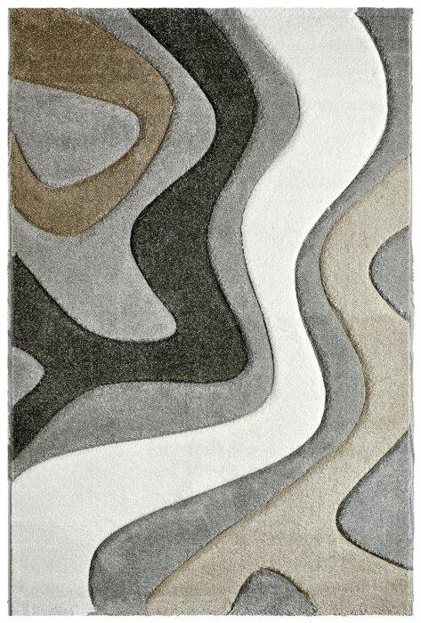 Šedý kusový moderní koberec Acapulco