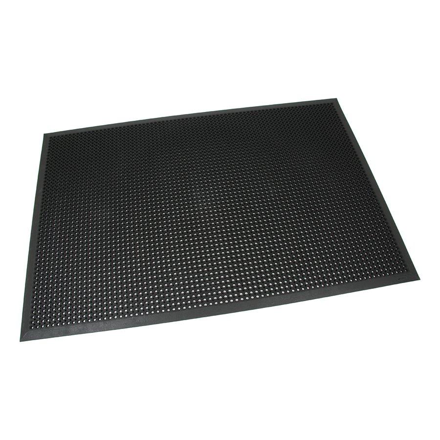 Černá gumová vstupní venkovní čistící rohož s obvodovou hranou Octomat Mini - délka 120 cm, šířka 180 cm a výška 1,25 cm