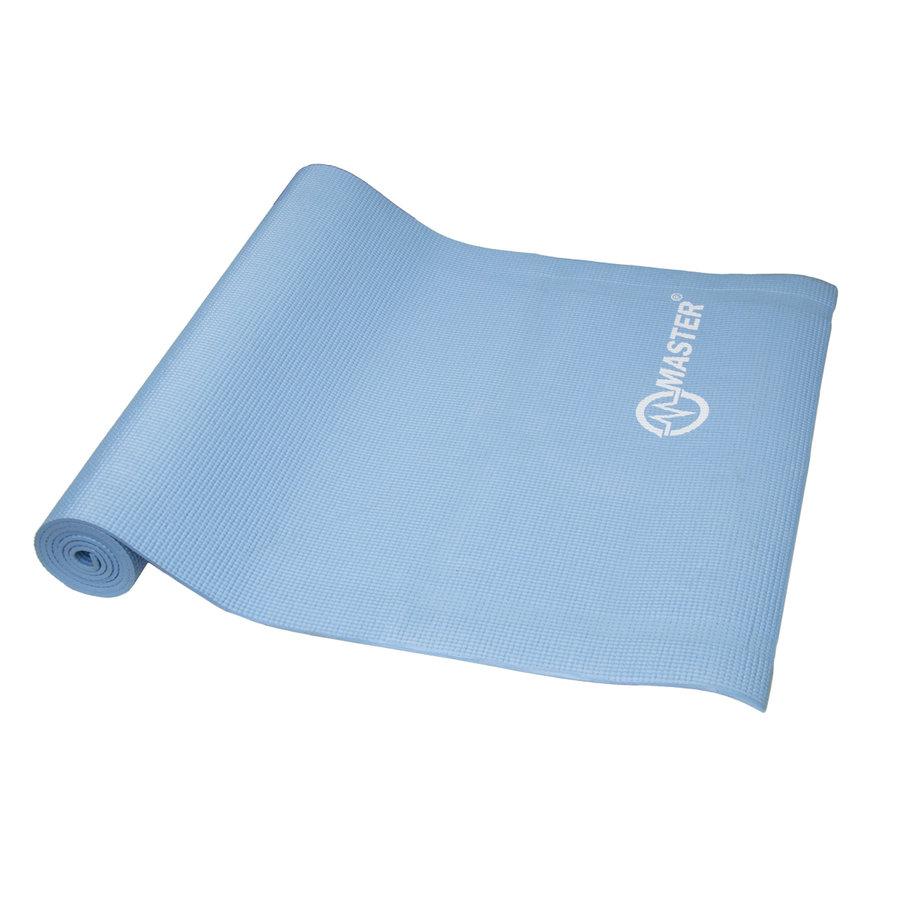 Modrá podložka na cvičení a na jógu MASTER - délka 173 cm, šířka 61 cm a výška 0,5 cm