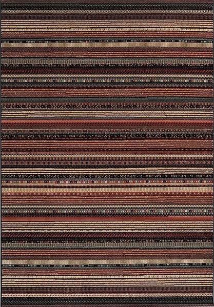 Hnědý kusový moderní koberec Zheva - délka 200 cm a šířka 135 cm