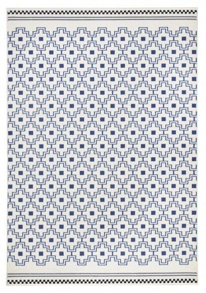 Modrý kusový koberec Capri