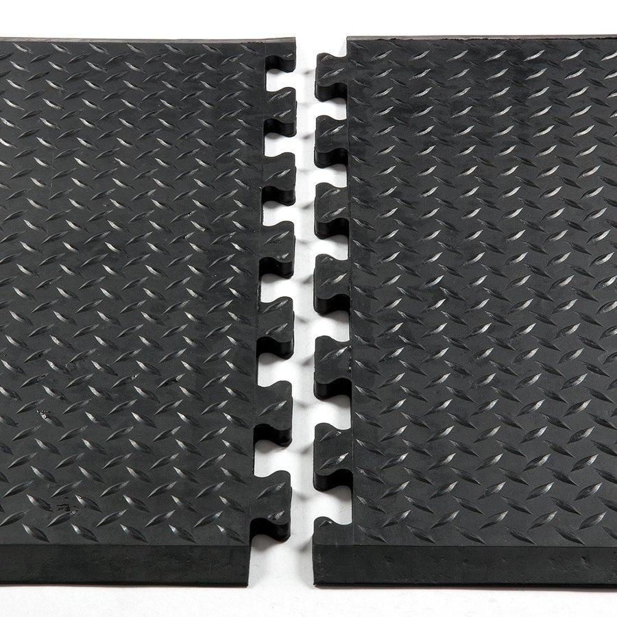 """Gumová průmyslová protiúnavová protiskluzová rohož """"koncový díl"""" FLOMA - délka 79 cm a šířka 71 cm"""