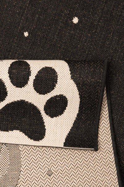 Černý dětský kusový koberec Vini - délka 170 cm a šířka 120 cm