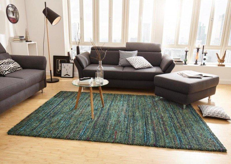 Zelený moderní kusový koberec Nomadic