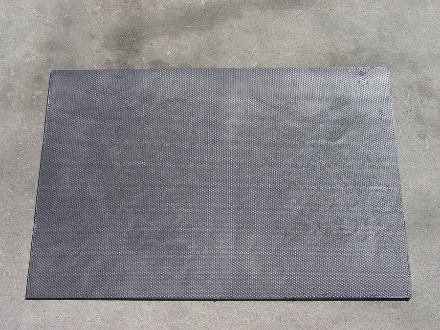 Plastová podlahová hladká kuličková deska - délka 120 cm, šířka 80 cm a výška 1,2 cm