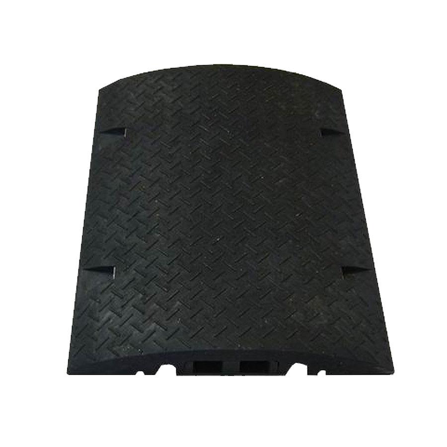 Černý plastový kabelový most s vložkou - délka 80 cm, šířka 60 cm a výška 8 cm