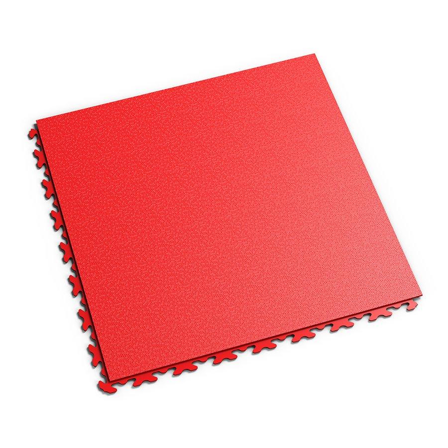 Červená plastová vinylová zátěžová dlaždice Invisible 2030 (hadí kůže), Fortelock - délka 46,8 cm, šířka 46,8 cm a výška 0,67 cm