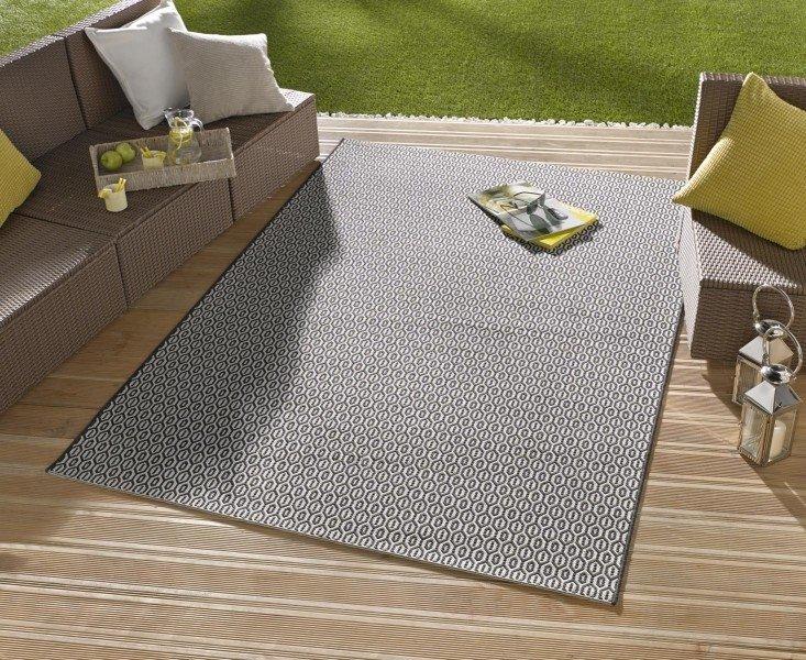 Šedý kusový moderní koberec Meadow