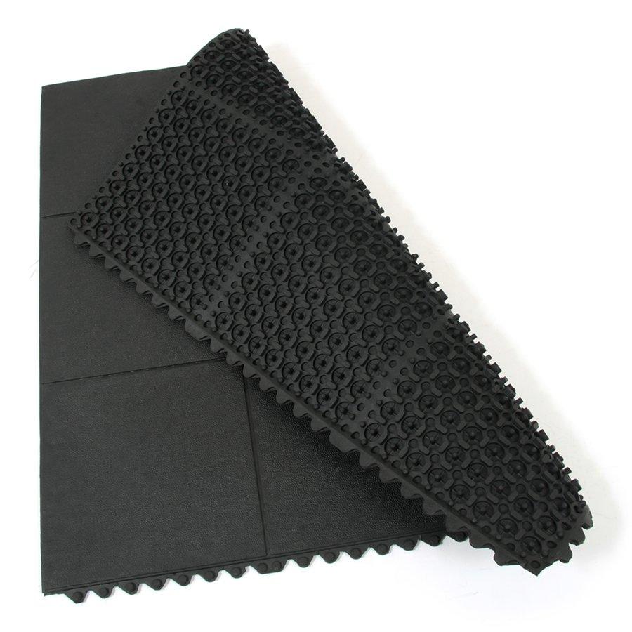 Gumová modulární protiúnavová rohož Solid Top Tile, FLOMA - délka 91 cm, šířka 91 cm a výška 1,4 cm
