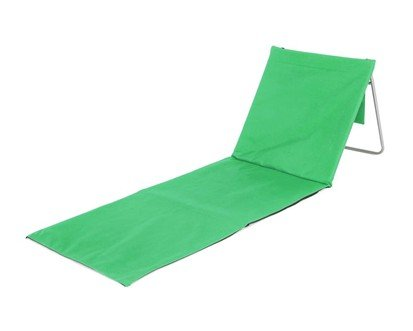 Zelené plážové skládací lehátko s ocelovou konstrukcí - délka 150 cm a šířka 54 cm