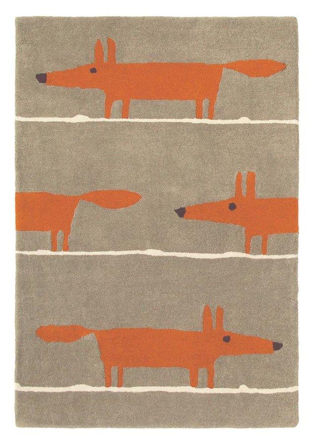Světle hnědý kusový moderní koberec Mr. Fox