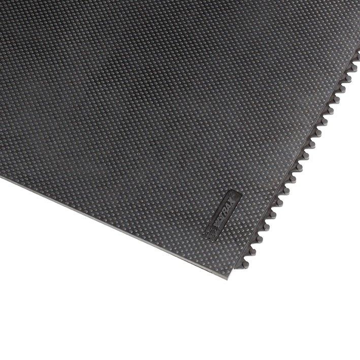 Černá gumová extra odolná modulární rohož Slabmat Carré - délka 91 cm, šířka 91 cm a výška 1,3 cm