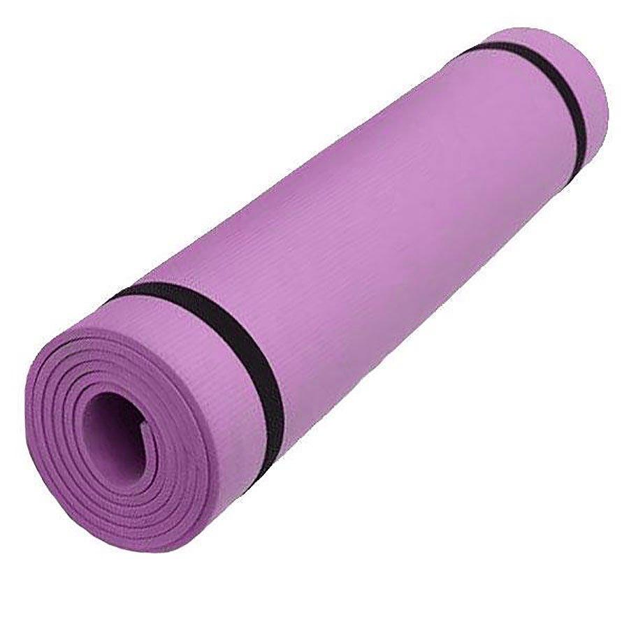Růžová pěnová karimatka na cvičení - délka 173 cm, šířka 61 cm a výška 0,6 cm