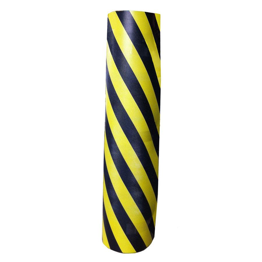 Černo-žlutý pěnový ochranný pás - délka 150 cm, výška 100 cm a tloušťka 1 cm