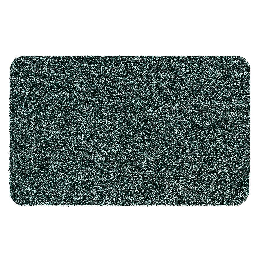 Tyrkysová metrážová čistící vnitřní vstupní pratelná rohož Majestic - délka 1 cm