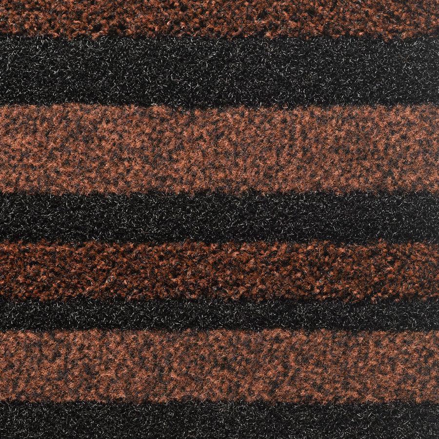 Hnědá textilní vstupní vnitřní čistící rohož Pasáž - délka 200 cm, šířka 135 cm a výška 0,9 cm
