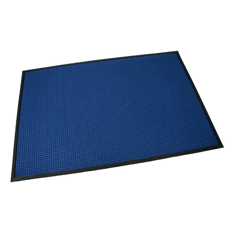 Modrá textilní gumová čistící vstupní rohož Little Squares, FLOMA - délka 120 cm, šířka 180 cm a výška 0,8 cm