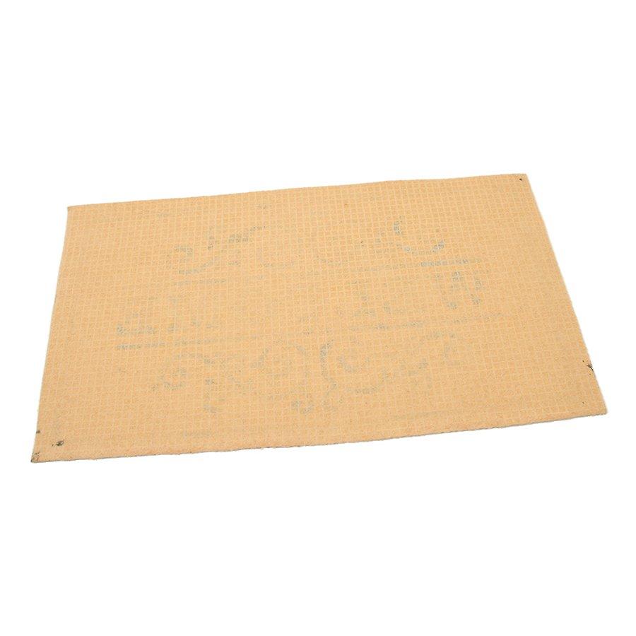 Béžová textilní čistící vnitřní vstupní rohož FLOMA Welcome - Deco - délka 33 cm, šířka 58 cm a výška 0,3 cm
