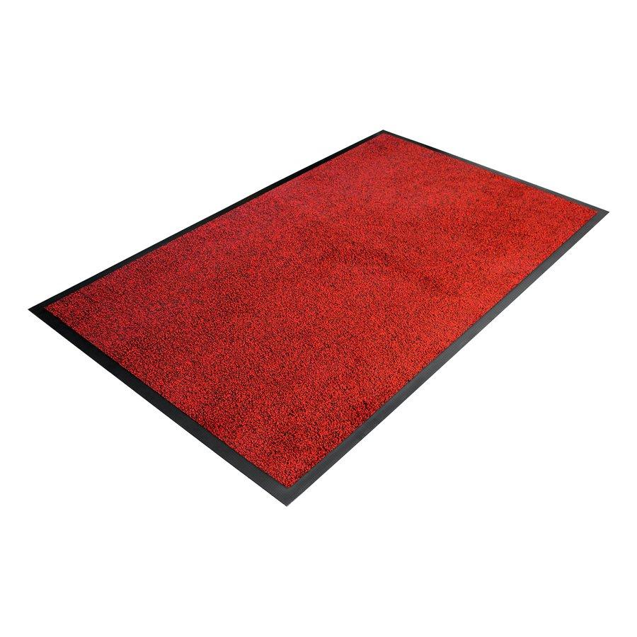 Červená textilní vstupní vnitřní čistící rohož - délka 85 cm, šířka 120 cm a výška 0,9 cm