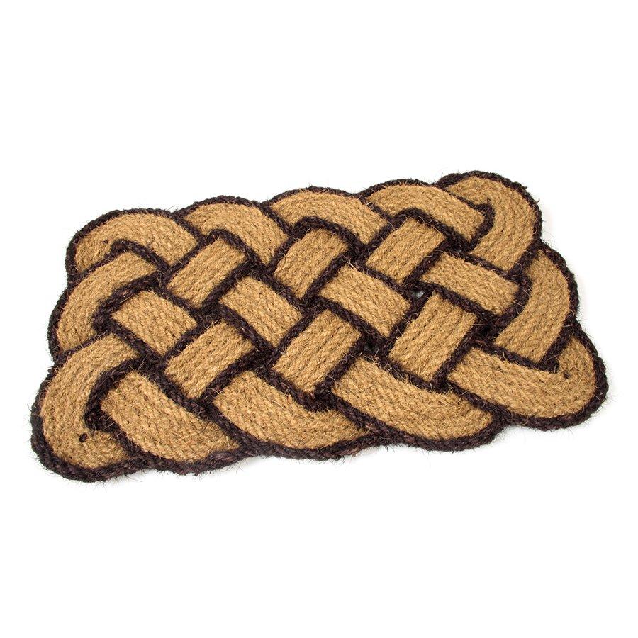 Kokosová vstupní venkovní čistící rohož Jumbo Rectangle Brown, FLOMAT - délka 45 cm, šířka 75 cm a výška 3,5 cm
