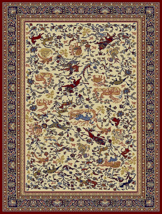 Červený kusový koberec Tashkent - délka 380 cm a šířka 280 cm