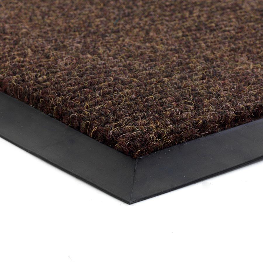 Hnědá textilní zátěžová čistící vnitřní vstupní rohož Catrine, FLOMA - délka 80 cm, šířka 120 cm a výška 1,35 cm