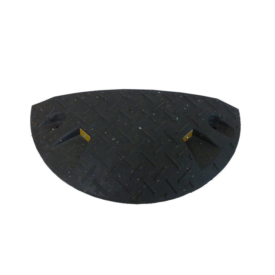 Černý plastový koncový zpomalovací práh - 10 km / hod