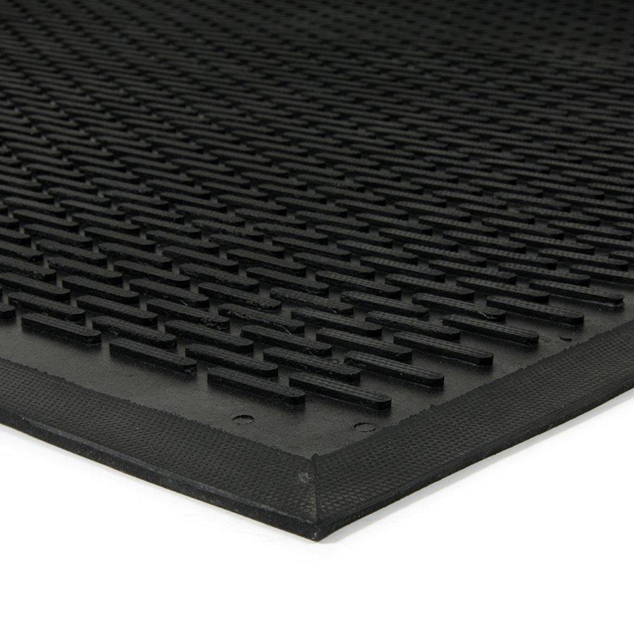 Gumová průmyslová protiúnavová protiskluzová rohož Scraper, FLOMAT - délka 170 cm, šířka 110 cm a výška 0,6 cm