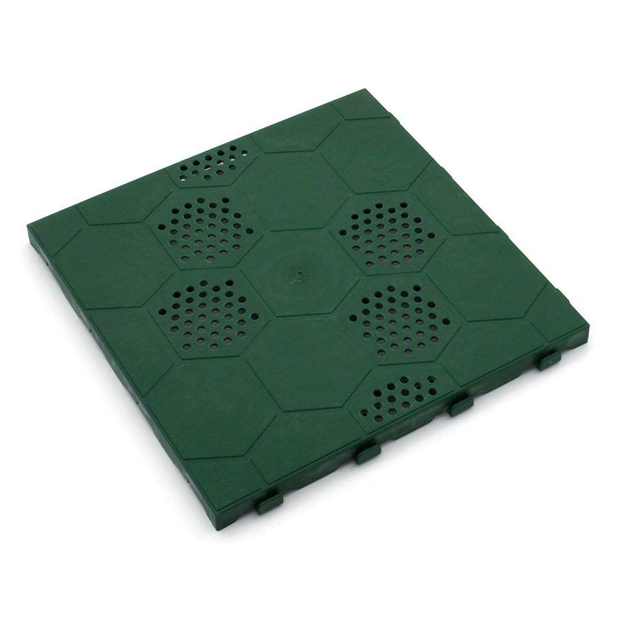 Zelená plastová terasová dlažba Linea Easy - délka 40 cm, šířka 40 cm a výška 2,65 cm