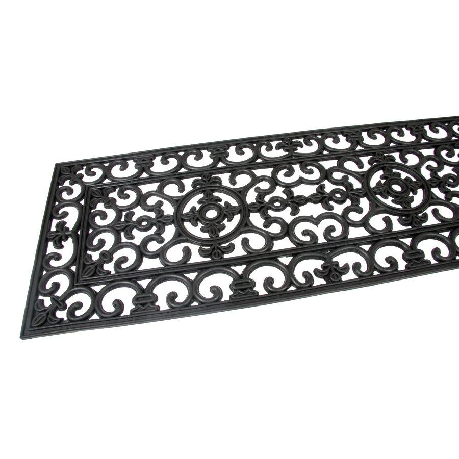 Gumová čistící venkovní vstupní rohož Deco, FLOMA - délka 45 cm, šířka 120 cm a výška 1 cm