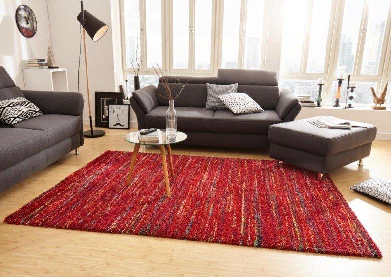 Červený moderní kusový koberec Nomadic - délka 290 cm a šířka 200 cm