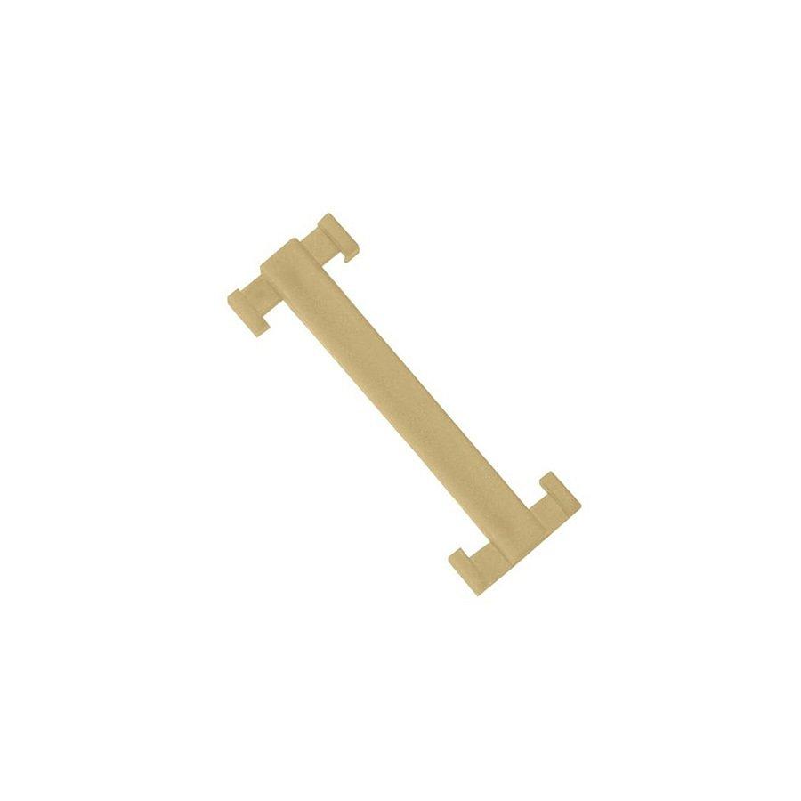 Béžová plastová spojka pro rohože Soft-Step - délka 4,5 cm a šířka 1,5 cm - 10 ks