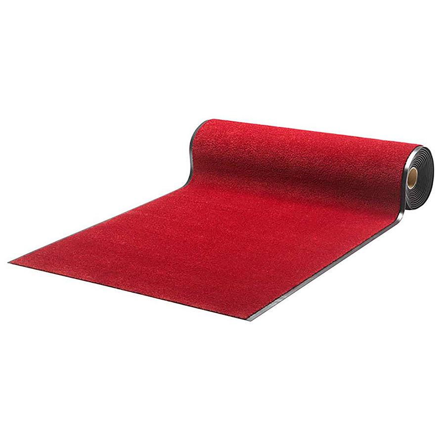 Červená metrážová čistící vnitřní vstupní rohož Luxor (Cfl-S1) - délka 1 cm