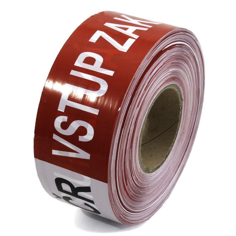 """Bílo-červená vytyčovací páska """"POLICIE ČR - VSTUP ZAKÁZÁN"""" - délka 500 m a šířka 7,5 cm"""