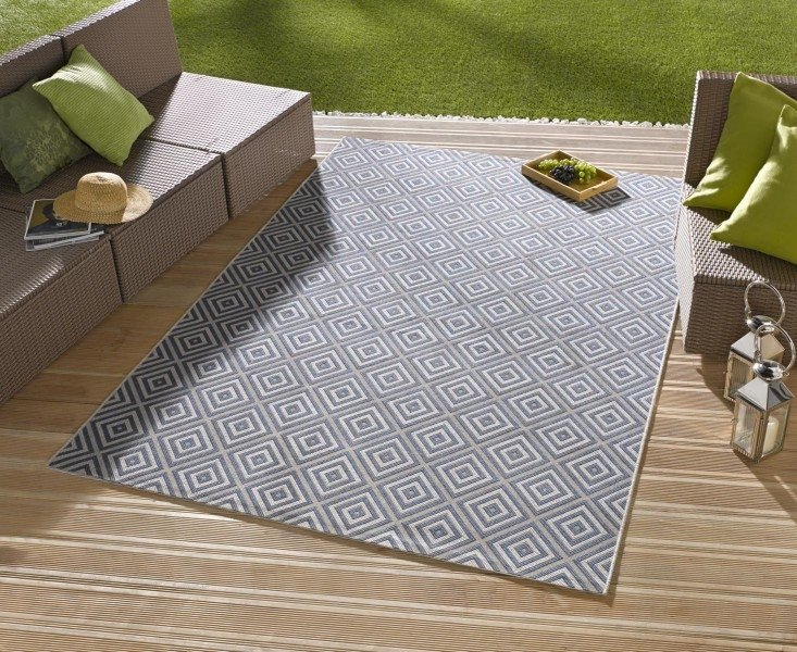 Modrý kusový moderní koberec Meadow - délka 230 cm a šířka 160 cm