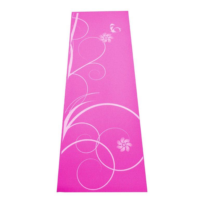 Růžová gymnastická podložka na cvičení SPARTAN SPORT - délka 170 cm, šířka 60 cm a výška 0,4 cm