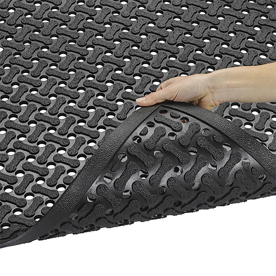 Černá gumová oboustranná protiskluzová rohož Superflow XT, Nitrile - délka 60 cm, šířka 90 cm a výška 0,85 cm