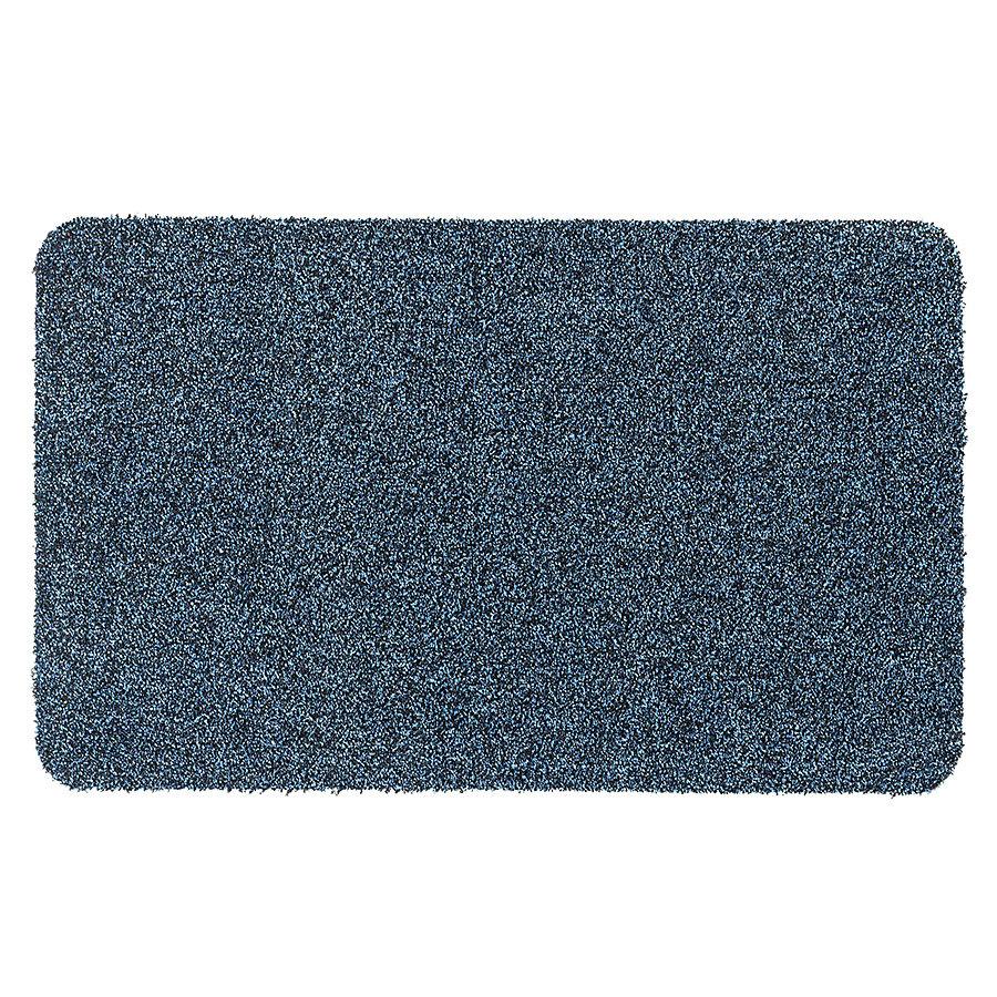 Modrá metrážová čistící vnitřní vstupní pratelná rohož Majestic, FLOMA - délka 1 cm a výška 0,6 cm