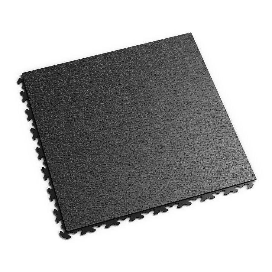 "Černý vinylový plastový rohový nájezd ""typ C"" Fortelock Invisible 2038 (hadí kůže) - délka 14,5 cm, šířka 14,5 cm a výška 0,67 cm"